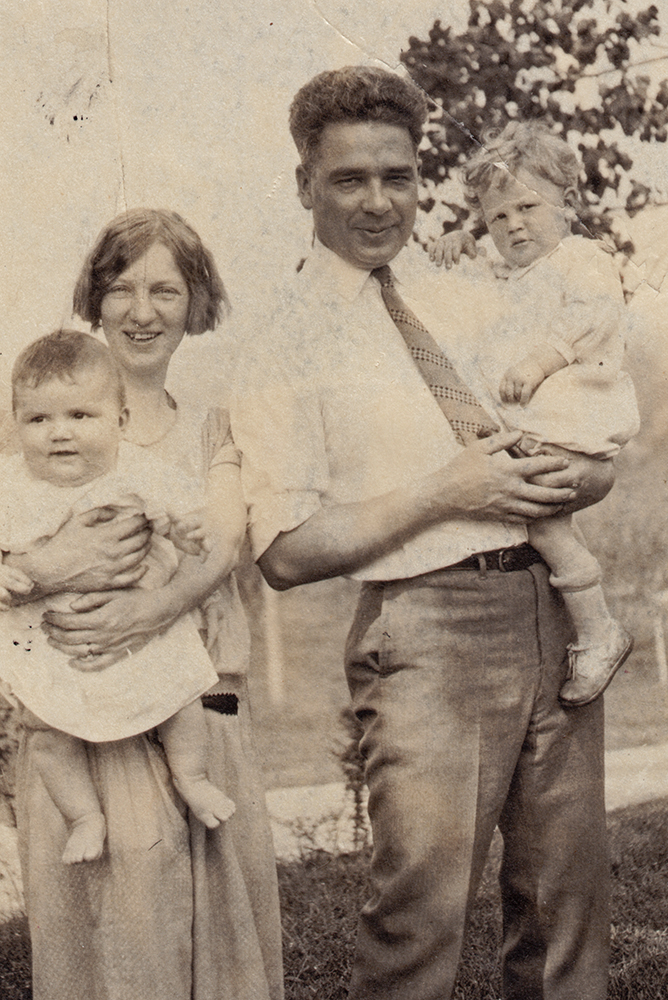 Dr. and Mrs. Walker and their family shortly after their arrival to Cornwall.